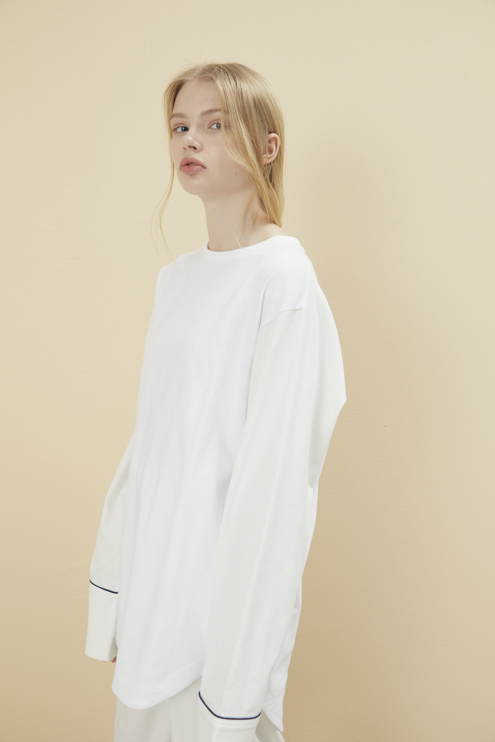 [예약배송] PAJAMA LONG SLEEVE T SHIRT WHITE