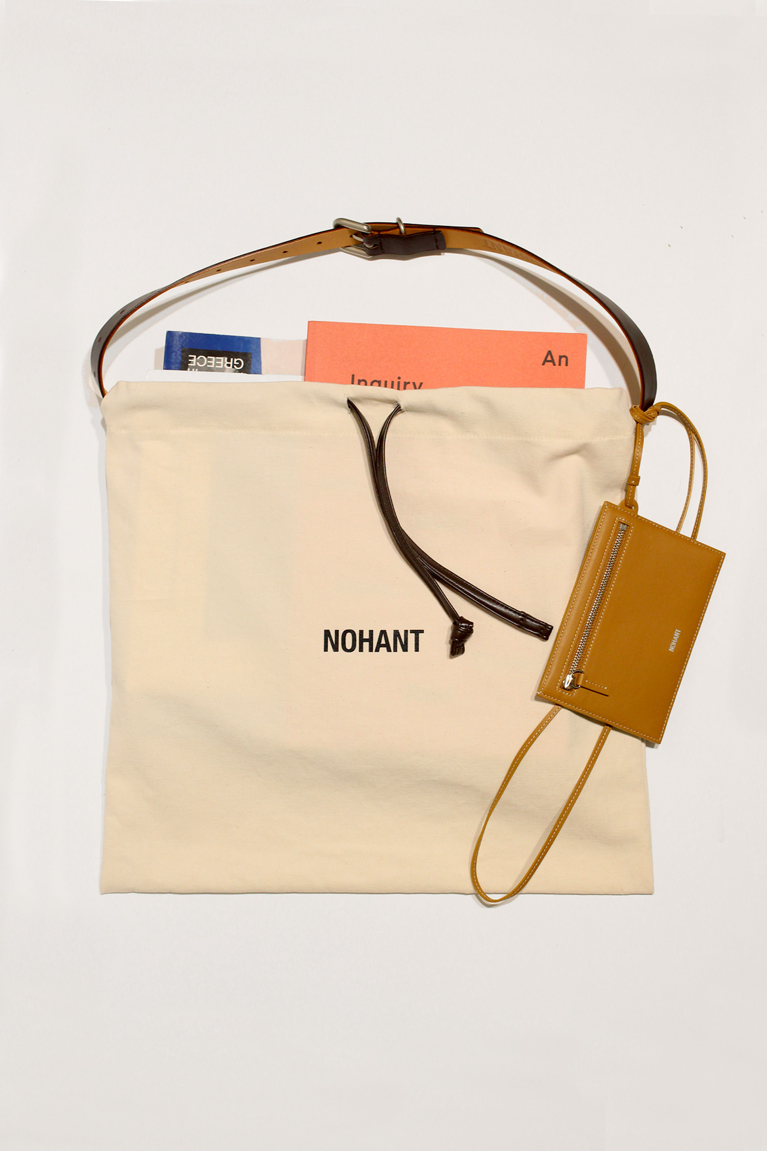 DETACHABLE MAGAZINE BAG BROWN