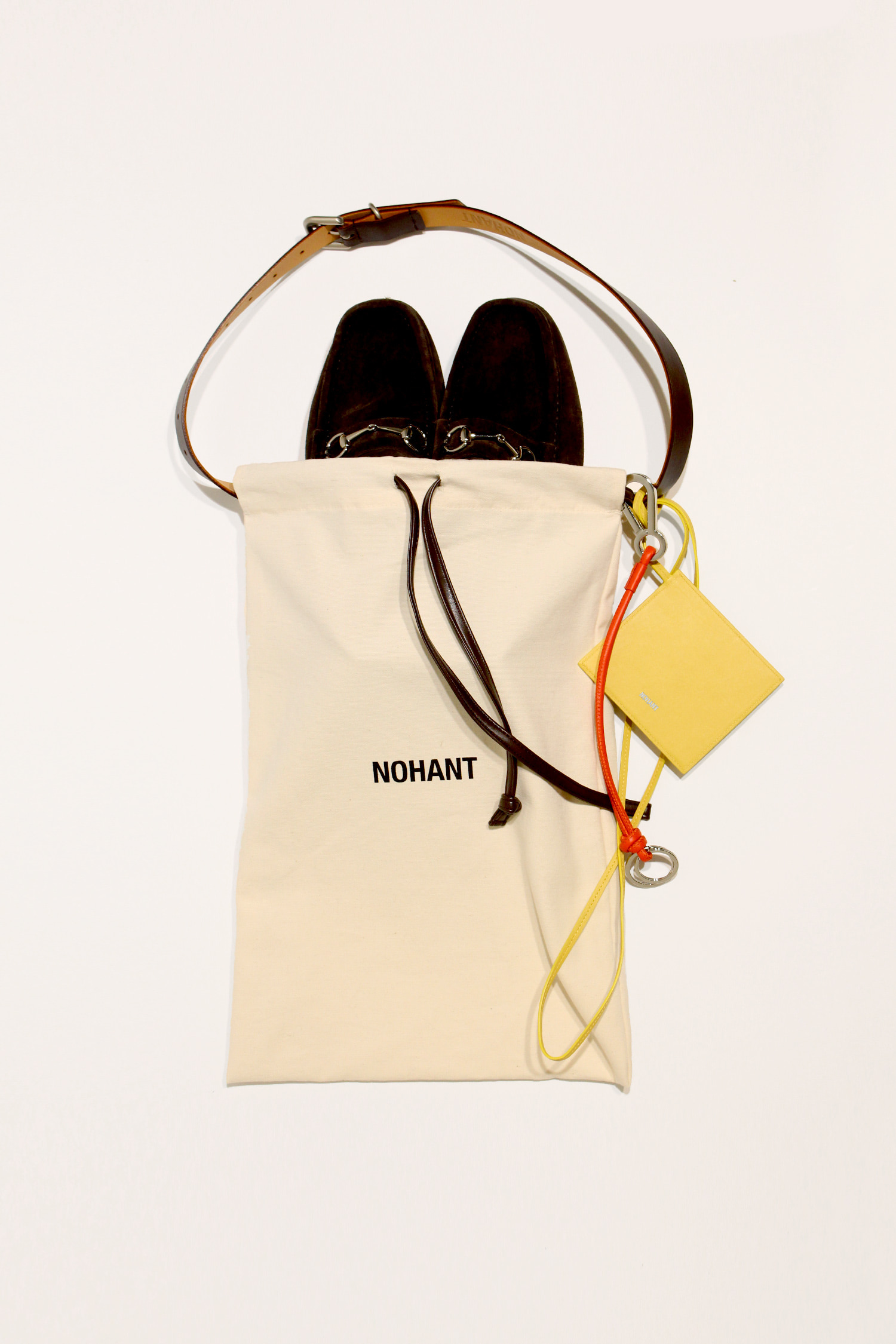 DETACHABLE SHOES BAG BROWN